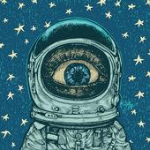 Amazement astronaut — Stock Vector