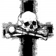 Vector background with skull and cross. for CD cover - Stock Vector