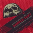 Vector grunge background with a skull. for CD cover - Imagen vectorial