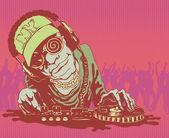 DJ, vector illustration. — Stock Vector