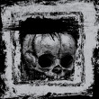 Background with skull in grunge style. — Imagen vectorial