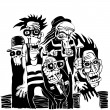 Crazy persons — Image vectorielle