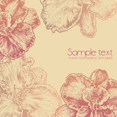 Floral background. engraved retro style. vector illustration — Stock Vector