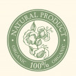 Green Label with the words Natural Product Organic - Stock Vector