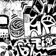 Royalty-Free Stock Vector Image: Graffiti background.