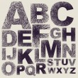 Hand drawing alphabet — Vettoriali Stock
