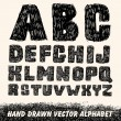 Hand drawn alphabet. — Stock Vector #19257083