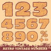 Retro Vintage Numbers. — Stock Vector