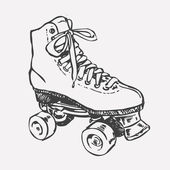 Retro Roller Skate. — Stock Vector