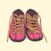 Old sneakers. — Stock Vector
