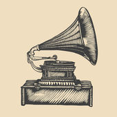 Gramophone. — Stock Vector