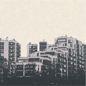 Modern urban buildings. — Stock Vector