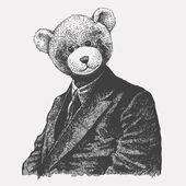 Man in een beer-masker. — Stockvector