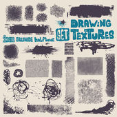 Grunge drawing textures set. — Stock Vector
