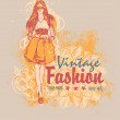 Design Vintage Fashion for clothing store sign board or t-shirt print — Stockvectorbeeld