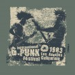 Постер, плакат: Retro design Punk festival for t shirt print