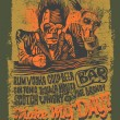 "Retro design ""Make May Day!"" for bar poster or t-shirt print with two drunkards — Imagens vectoriais em stock"