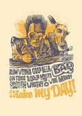 "Retro design ""Make May Day!"" for bar poster or t-shirt print — Stock Vector"