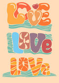 Love with hand-written fonts — Stock Vector