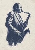 Jazz-muzikant. — Stockvector