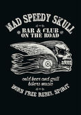 Mad Speedy Skull Bar and Club — 图库矢量图片