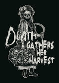 "Design ""Death gathers her harvest"" — Stok Vektör"