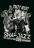 "Design ""Crazy Night Ska Jazz"" — Stock vektor"