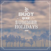 """Enjoy your summer holidays"" — Vector de stock"