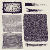 Grunge halftone drawing textures set. — Stock Vector
