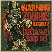 Poster Zombie Outbreak — Stock Vector