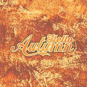 """Design poster """"Hello Autumn"""" — Stock Vector"""