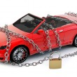 NO BRAND Car protected & secured with chain — Stock Photo #16635565
