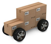 Cardboard boxes, delivery concept — Stock Photo