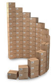Rising sales, Cardboard boxes concept — Stock Photo