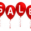 SALE balloons, red, isolated — Stock Photo