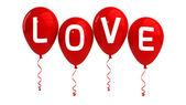 LOVE balloons — Stock Photo