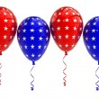 USA Balloons, 4th july, isolated — Stock Photo