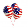 Shiny Patriotic US balloons with American flag design — Stock Photo #21930071