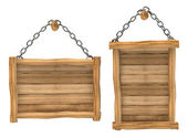Empty wooden board hanging — Stock Photo