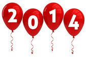 Year 2013 Red Balloons — Stock Photo