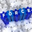 Stock Photo: Creative 3D pieces of puzzle and word FORCE