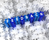 Creative 3D pieces of puzzle and word FEEDBACK — Stock Photo