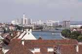 Cityscape in Basel with Rhine — Stock Photo