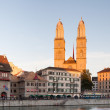 Zurich, Great Minster, Summer Evening — Stock Photo