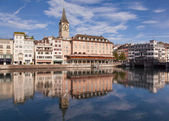 Summertime morning in Zurich — Stock Photo