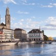 Zurich, Great Minster, evening — Stock Photo #35155825