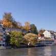 Zurich, Switzerland, the Limmat river, autumn — Stock Photo