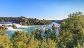 Rhine Falls & Castle Laufen — Стоковое фото