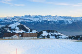 View from Mt. Rigi in Winter Evening — Stock Photo