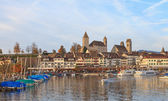 Rapperswil, autumn evening — Foto de Stock